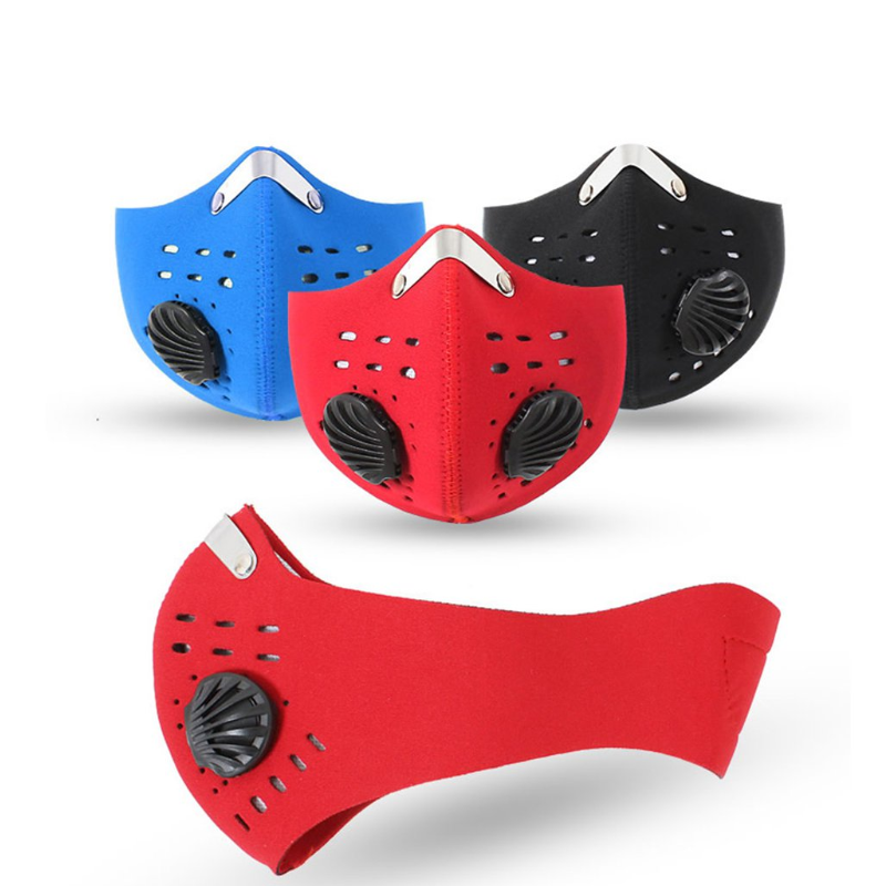 Cycling Face Mask Dust Mask Bike Active Carbon With Filter Mask Breathing Valve Anti-Pollution Protective Sports Mask