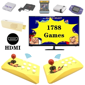 HDMI Wireless Retro Arcade Joystick Game Console with 1788 Built-in Games for Arcade Games for Snes For Genesis for Nes 1