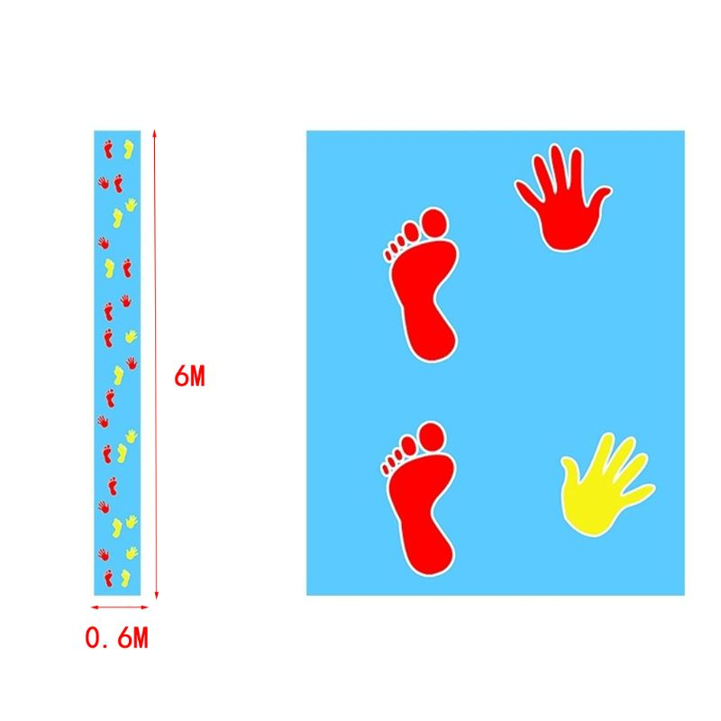 Hands And Feet Game Pad Team Expand Props Outdoor Training Group Building Fun Game Pads Children Kids Games Toy Mat