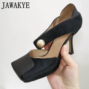 Stylish Brand High Heels Squar