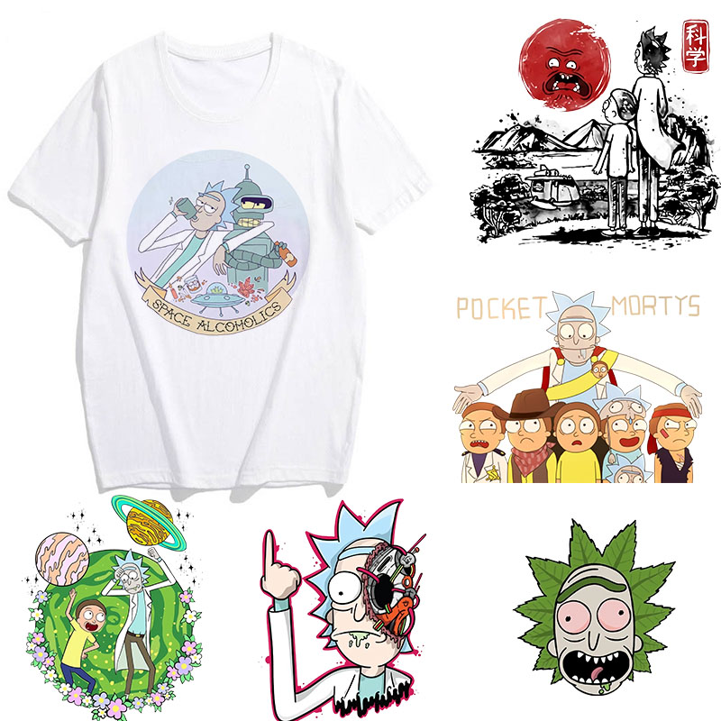 Showtly Rick And Morty T Shirt Men/Women T-Shirts Novelty Funny Clothes Tshirts Man White Tee Shirts Pickle Rick Male Tops