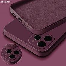 Coque de protection complète en Silicone liquide pour iPhone, pour modèles 11, 12 Pro Max, XS, MAX, XR, X, 7, 8 PLUS, SE2