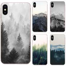 Soft TPU Fashion Case Cover Forest Black And White For Apple iPhone 4 4S 5 5C 5S SE 6 6S 7 8 11 Plus Pro X XS Max XR(China)