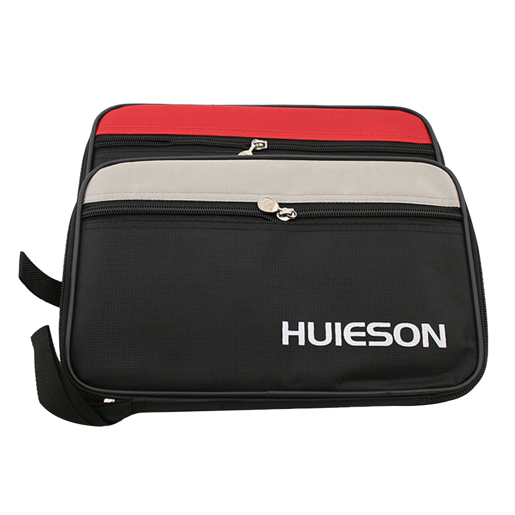 School Professional Storage Pouch Random Color Gym Table Tennis Racket Case Pingpong Paddle Bag Indoor Games With Zipper Square