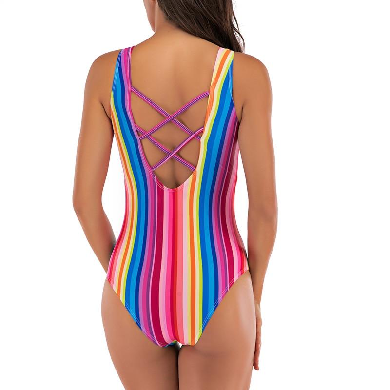 Clearance SaleRiseado One-Piece Swimsuit Competition U-Back Sport Women for Bandage