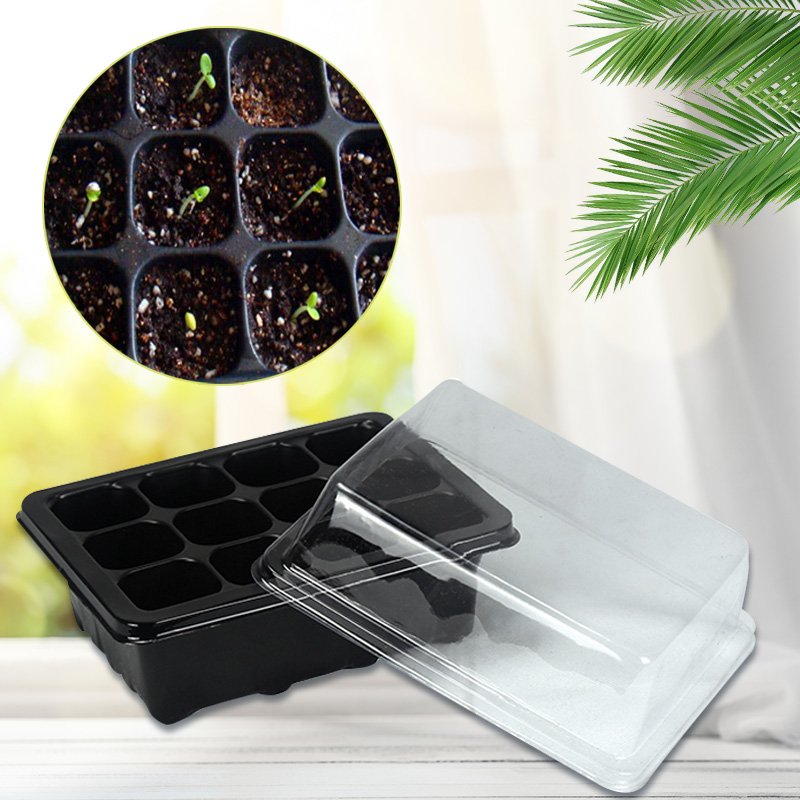 Box Acrylic Storage Box Lightbox Plant Hole Seeds Grow Case* Case* 12 Cells Quality*