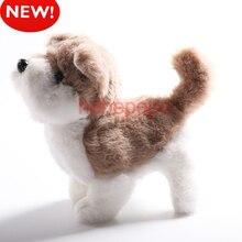 Горячая Электрический мягкий плюшевый робот собака хаски игрушки могут лаять ходить вперед и назад Моделирование игрушки для детей Подарки