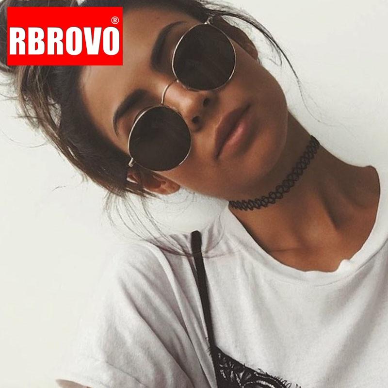 RBROVO 2019 Vintage Oval Classic Sunglasses Women/Men  Eyeglasses Street Beat Shopping Mirror Oculos De Sol Gafas UV400