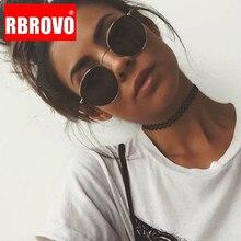 RBROVO 2019 Vintage Oval clásico Gafas De Sol De las mujeres/los hombres Gafas Street Beat De espejo Gafas De Sol De Gafas UV400