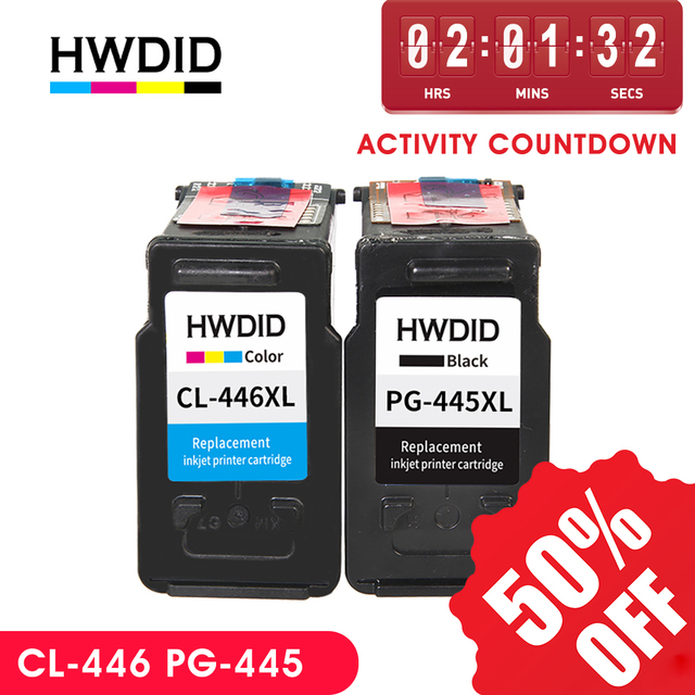 HWDID pg445 cl446 ink cartridge replacement for Canon pg 445 cl 446 PG 445 for Canon PIXMA MX494 MG 2440 2540 2940 MX494 IP2840