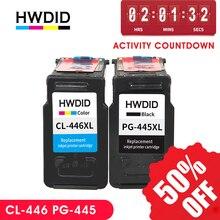 HWDID pg445 cl446 wymiana wkładu z tuszem dla Canon pg 445 cl 446 PG 445 dla Canon PIXMA MX494 MG 2440 2540 2940 MX494 IP2840