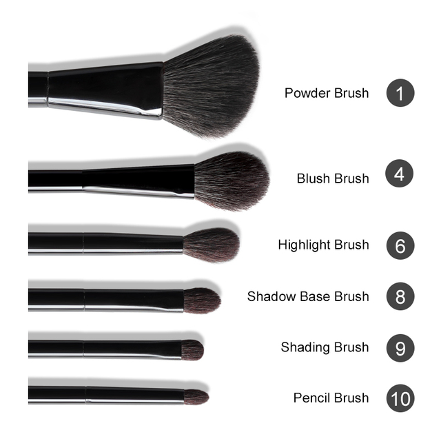 OVW 6/28 pcs Natural Goat Pile Professional Makeup Brushes Face Set Eye Shadow Blending Eyeliner Eyebrow Brush For Makeup Tool 2