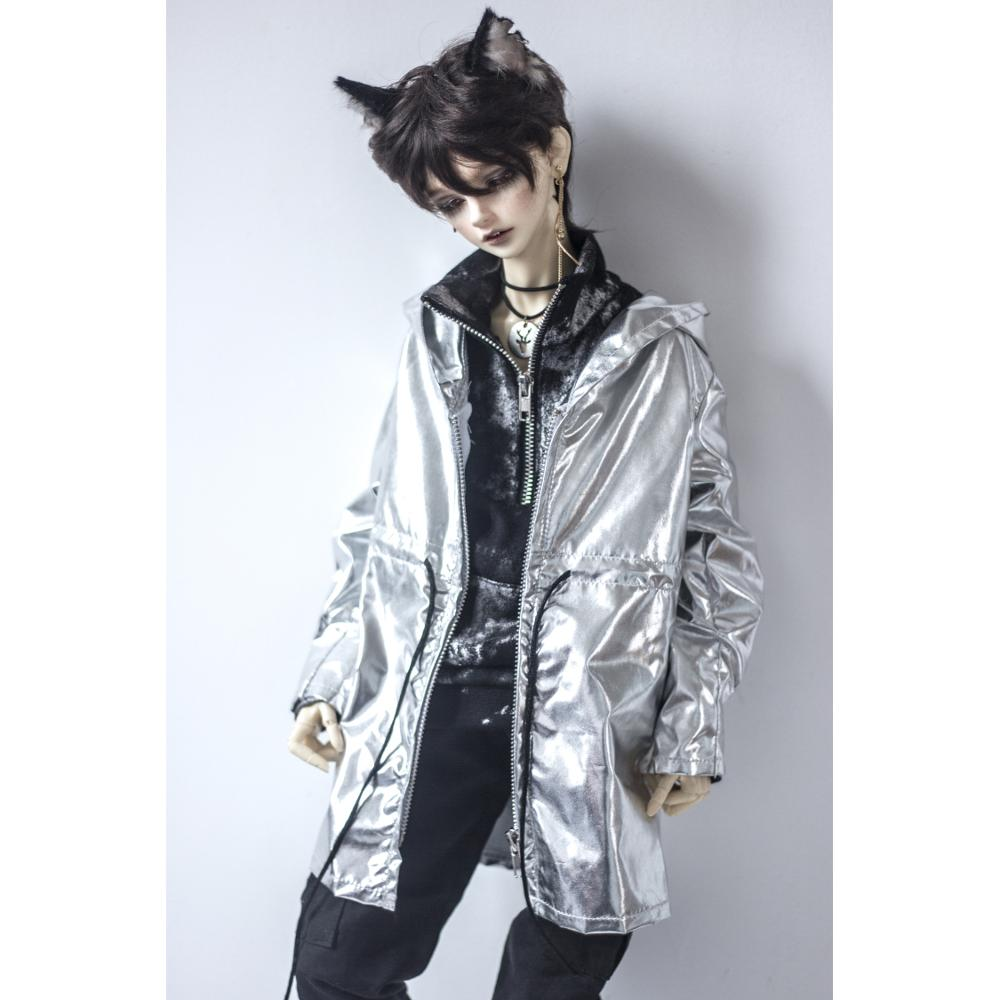 BJD DOLL Long Coat Outfits Top Silver Clothing For Male 1/4 1/3 SD17 70cm 17