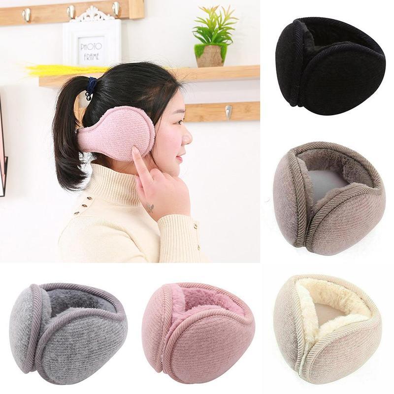 Female Ear Earmuffs Winter Warm Cotton Thick Plush Unisex Earmuffs Women Outdoor Sports Keep Warm Fleece Warmer Men Ear Muffs