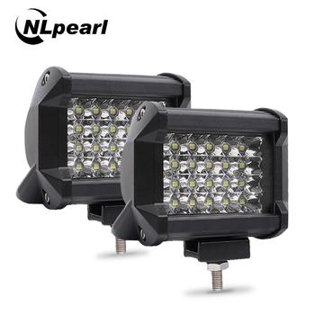 Nlpear 2 #215 4 #8222 36W 54W 72W listwa świetlna LED do ciężarówek ciągniki samochodowe Offroad SUV 4WD 4 #215 4 łódź ATV Spot Combo listwa LED światło robocze 12V tanie i dobre opinie NLpearl Praca Lekka 6000 k 36W 54W 72W LED work light bar -40-80 Celsius spotlight 120 degree Bliski IP67 12V 24V led light bar
