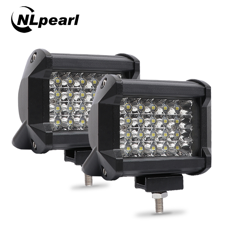 "Nlpear 2x 4"" 36W 54W 72W LED Light Bar For Trucks  Car Tractors Offroad SUV 4WD 4x4 Boat ATV Spot Combo LED Bar Work Light 12V"