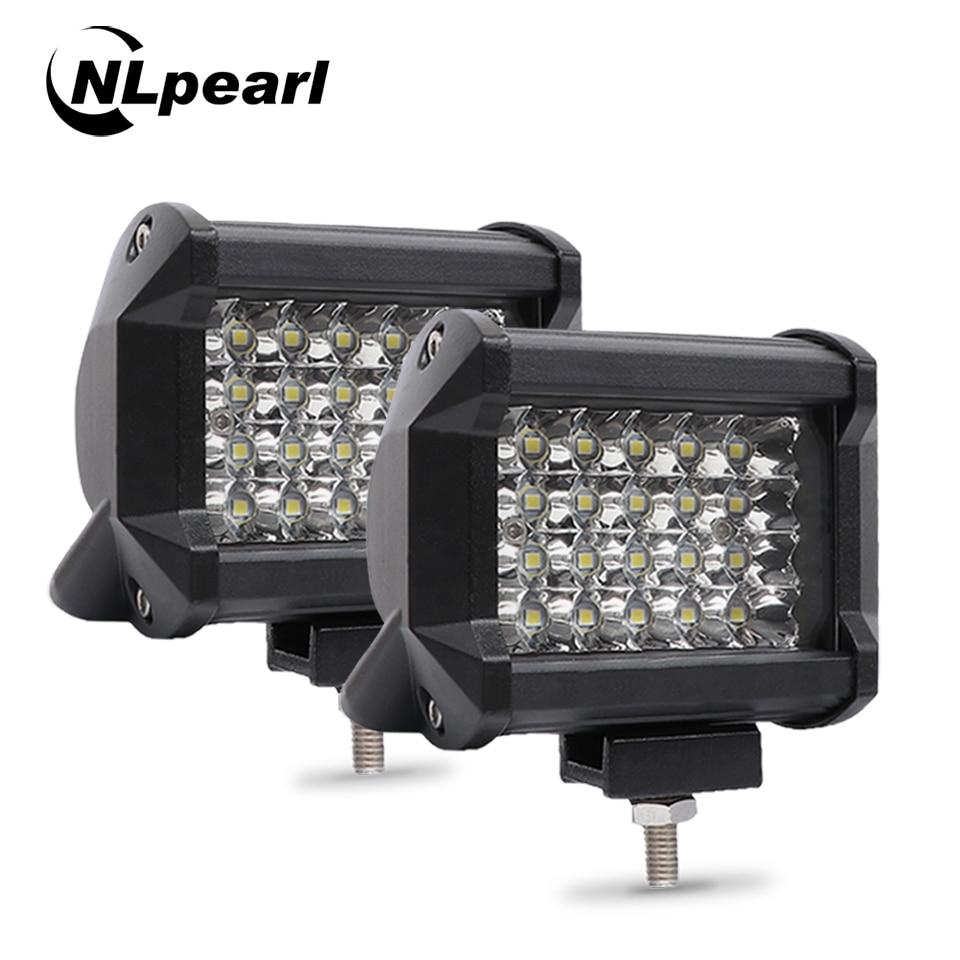 "Nlpear 2x 4"" 36W 54W 72W LED Light Bar For Trucks  Car Tractors Offroad SUV 4WD 4x4 Boat ATV Spot Combo LED Bar Work Light 12V"