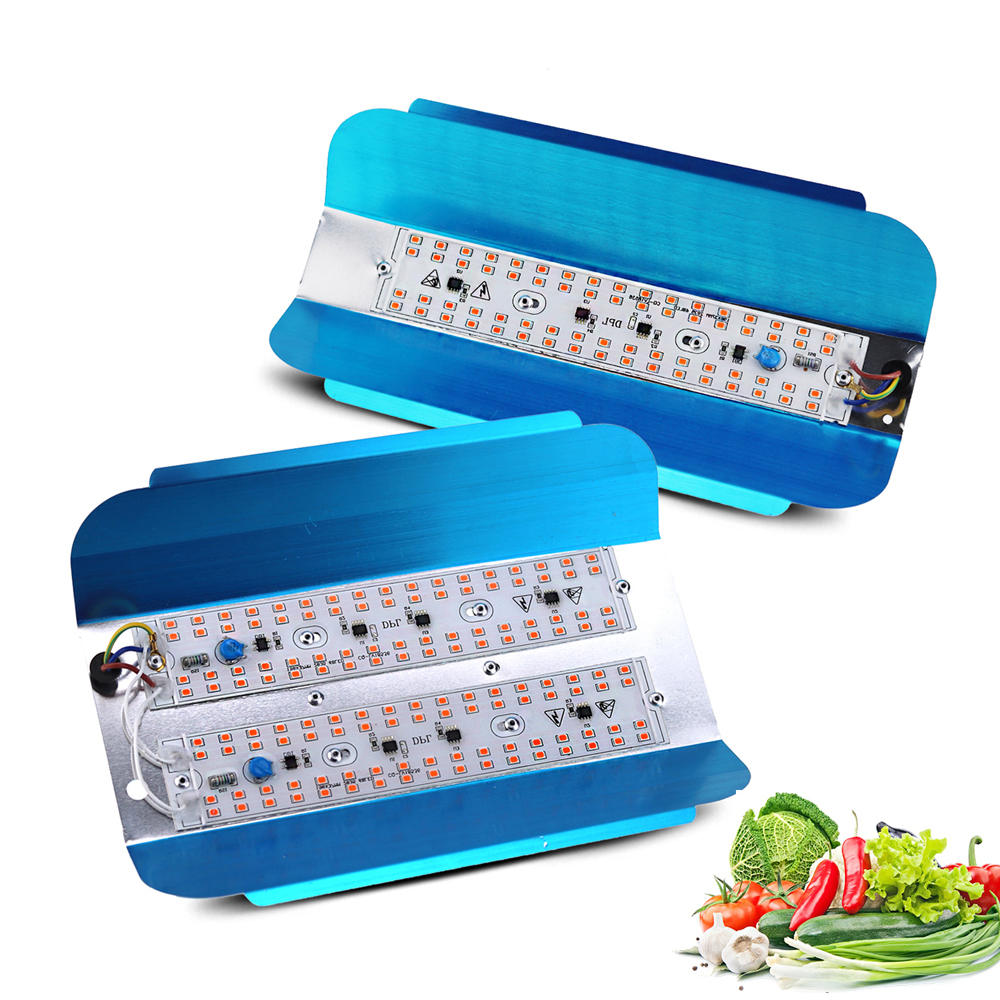 LED Grow Light Full Spectrum 100W 50W Phyto Flood Lights Outdoor Iodine Lamp LED Grow Lamp Waterproof Ip65 For Medicinal Plants