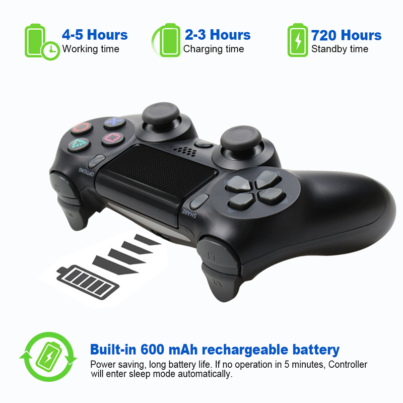 Bluetooth Gamepad and Wireless Game controller with Audio Function for PS4 and PS3 11