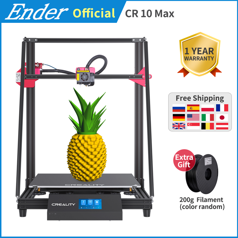 CR-10 Max 3d printer larger printing size 450*450*470 Golden triangle Auto leveling Resume Print Touch-Screen 8G TF Creality 3D