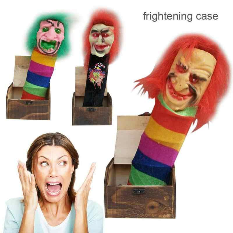 3 Size Halloween Fake Wooden Frightening Case Prank Scare Box Surprise Joke Horror Funny Halloween Prank Toy For Children Random