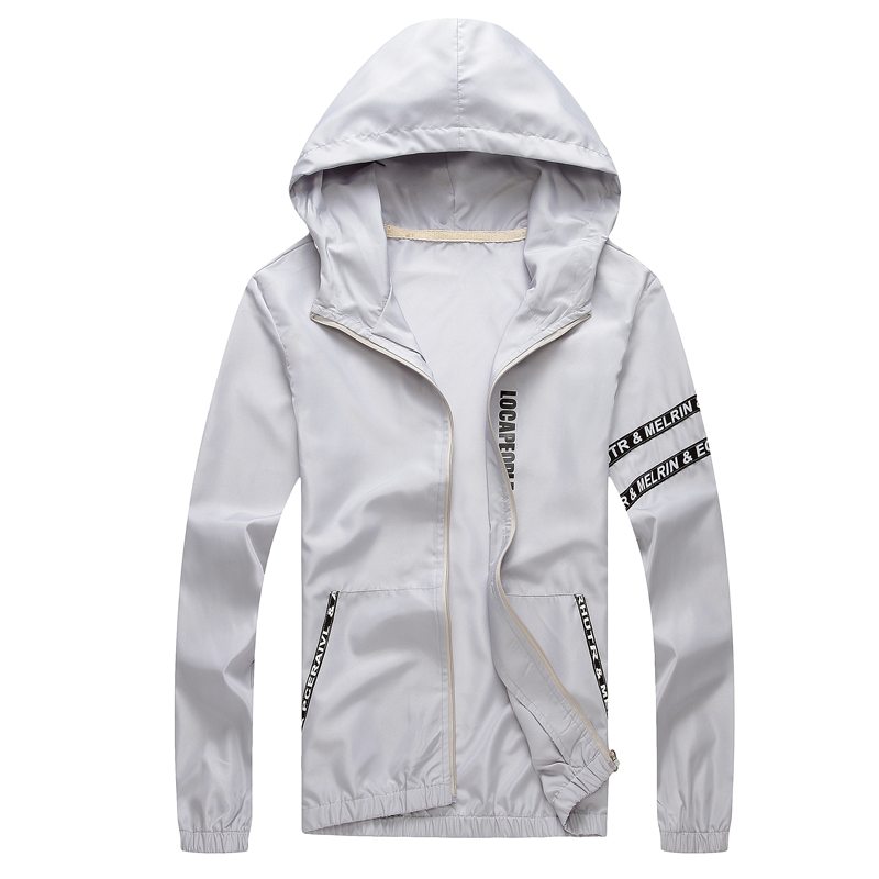 Men`s windbreaker summer Sun protection jacket outwear sports Cycling Thin  hooded coats men jaqueta masculina Brand clothing 5