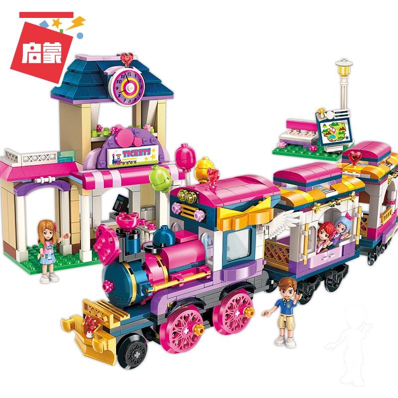 Legoingly 2015 City Girls Princess Move Train Car Building Blocks Compatible Educational Bricks Toys For Children Gift