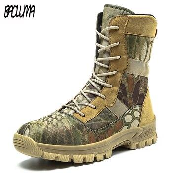Botas Militares de camuflaje para hombre, Botas Militares impermeables para exteriores, para trabajo