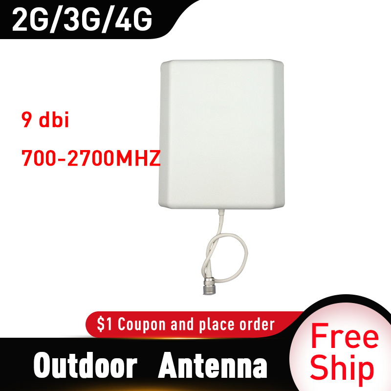 2G 3G 4G Panel Antenna 700-2700MHz CDMA GSM DCS LTE Outdoor Antenna Gsm Cell Phone Signal Repeater 4g Mobile Booster  Antenna