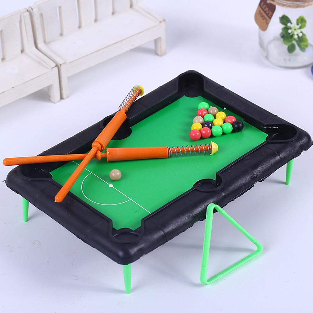 Mini Tabletop Pool Table Funny Children Mini Table Billiard Pool Simulation Portable Desktop Toy Set Fun Entertainment Gifts Toy