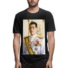 Maha Vajiralongkorn printed oversized men t shirt anime clothes Polyester goth tee streetwear