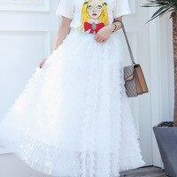 New Skirt summer fairy gentle thousand layer mesh pink sweet cake skirt white hair