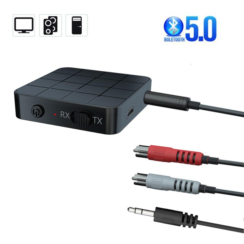 Bluetooth 5,0 аудио приемник передатчик 3,5 мм AUX разъем RCA USB-ключ стерео беспроводной адаптер с микрофоном для автомобиля ТВ ПК наушников