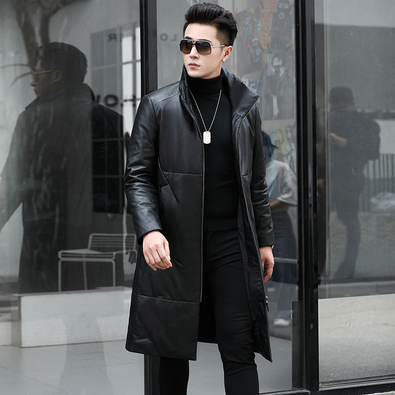 Genuine Leather Jacket Men Cow Leather Duck Down Winter Coat Men Long Jacket For Mens Clothes 2020 Jaqueta De Couro SY10N YY915