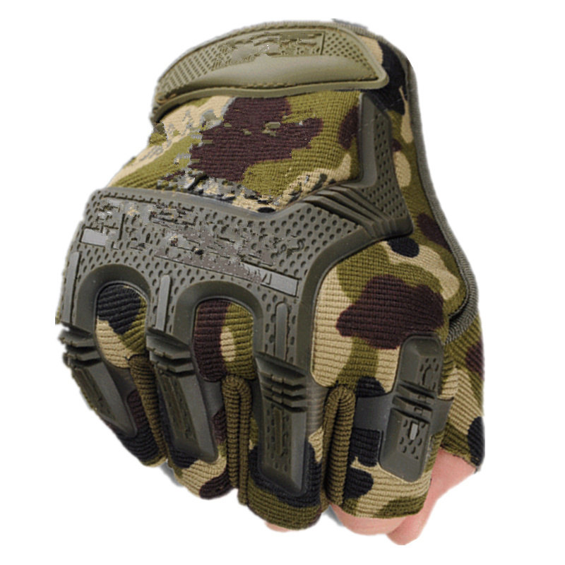 Fingerless Tactical Gloves Camouflage Military Mittens For Fitness Male Antiskid Motocycle Men Women Moto Half Finger Gloves