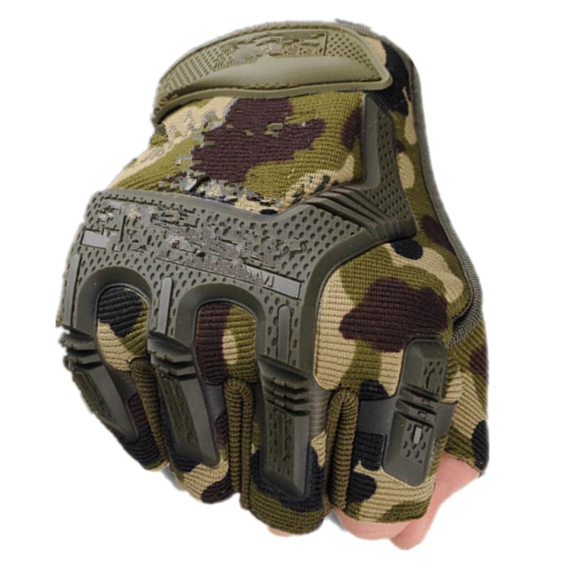 Fingerless Tactical Gloves Camouflage Military Mittens For Fitness Male Antiskid Motocycle Men Women Moto Half Finger Gloves
