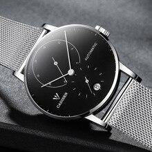 Erkek saatler CADISEN 2018 en lüks marka otomatik mekanik İzle erkekler tam çelik iş su geçirmez moda spor saatler