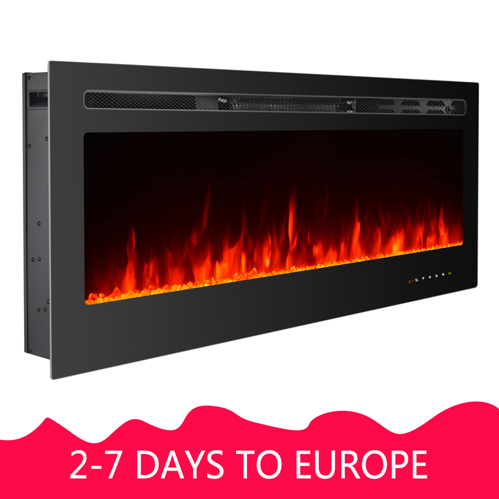 Touch Control 36 Fireplace Recessed Electric Fireplace Built In