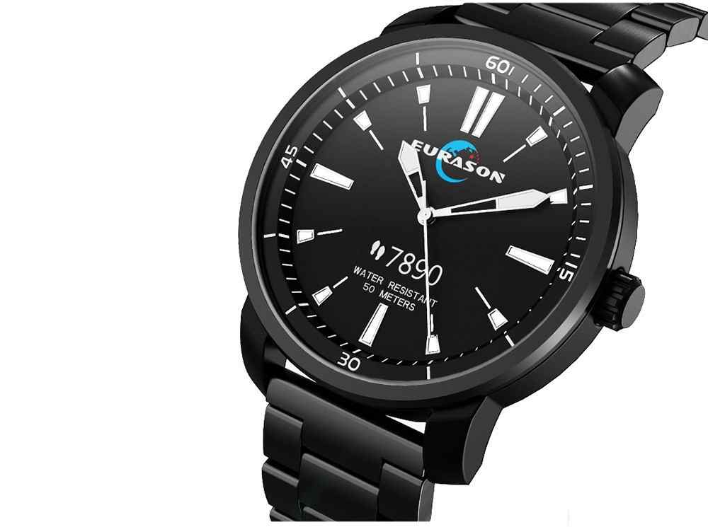 H2 ספורט היברידי חכם שעון נירוסטה כושר פעילות Tracker IP68 עמיד למים smartwatch תמיכה דם חמצן דם עיתונות