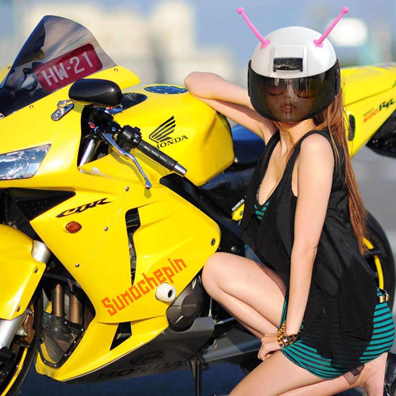 CDCOTN 1Pcs אופנוע קסדת צופר רך פלסטיק אופנוע קסדת קרנות פרייר אישי קסדת צופר קישוט בארה 'ב פרייר