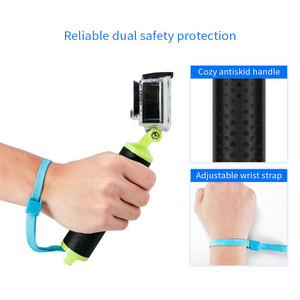 Image 3 - Universal Floating Hand Grip Waterproof Handle Hand Grip Buoyancy Bar Monopod for Gopro Hero 5 4 3 Xiaomi Yi Action Camera 2 4K