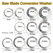 16/20/22/25.4/30/32MM Circular Saw Blade Reducting Rings Conversion Ring Cutting Disc Woodworking Tools Cutting Washer()
