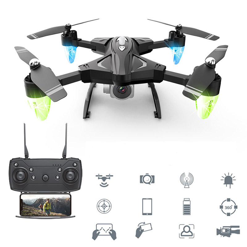 RC Drones With Camera HD 480P 1080P Folding Aerial RC Helicopter Long Range Wifi Four Axis Aircraft 0.3MP 5MP Quadcopter Toys RC Helicopters     - title=