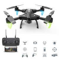 RC drony z kamerą hd 480P 1080P składane anteny helikopter RC dalekiego zasięgu Wifi czteroosiowy samolot 0.3MP 5MP Quadcopter zabawki