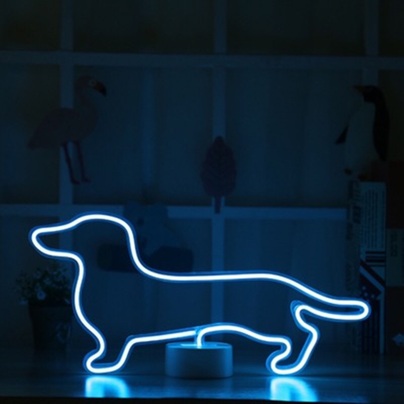 Fashion Rainbow LED Neon Light Neon Sign Colorful Table Lamp Fairy Tale Lights Holiday Gift Home Children's Room Party Decor New image