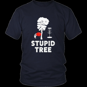 Stupid Tree Funny Disc Golf Shirt For Men Women Teens(China)