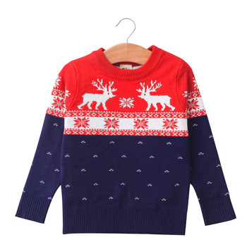 New Children Sweaters Boys Girls Long Sleeve Knit Christmas Pullover Sweater 2016 new fashion girls sweaters 3 10years children sweater cartoon sweaters 1673