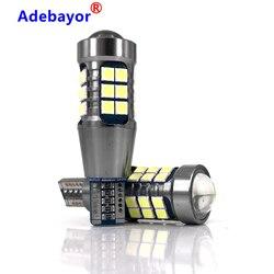 100Pcs T15 3030 27 SMD W16W  T20 7440 BA15S 1156 P21W LED Car LED Auto DRL Turn Signal Light Reversing lamp