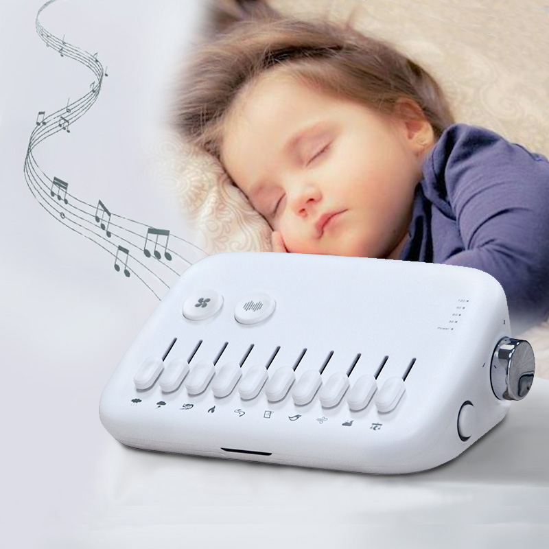 White Noise Machine USB Rechargeable White Noise Sound Machine Timed Baby Sleeping Monitors Baby Noise Machine White Noise Toy