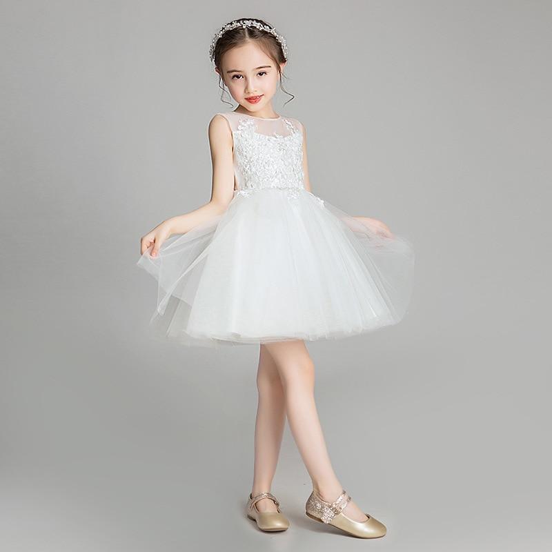 Girl'S Gown Princess Dress 2019 Summer New Style Big Boy Wedding Dress Puffy Yarn Children Catwalks Piano Costume